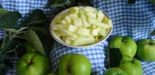 Kitchen cut fresh bramley apple